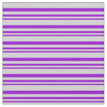 [ Thumbnail: Dark Violet and Light Grey Colored Lines Pattern Fabric ]