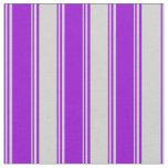 [ Thumbnail: Dark Violet and Light Grey Pattern Fabric ]