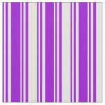 [ Thumbnail: Dark Violet and Light Yellow Stripes Fabric ]