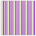 [ Thumbnail: Dark Violet and Pale Goldenrod Colored Pattern Fabric ]