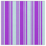 [ Thumbnail: Dark Violet and Powder Blue Striped/Lined Pattern Fabric ]