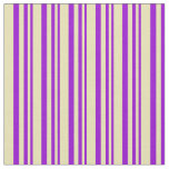[ Thumbnail: Dark Violet and Tan Lined/Striped Pattern Fabric ]