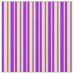 [ Thumbnail: Dark Violet and Tan Striped/Lined Pattern Fabric ]