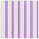 [ Thumbnail: Dark Violet and White Colored Lines Fabric ]