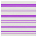 [ Thumbnail: Dark Violet and White Lined Pattern Fabric ]