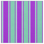 [ Thumbnail: Dark Violet, Aquamarine & Powder Blue Pattern Fabric ]