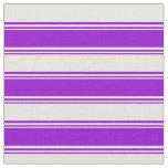 [ Thumbnail: Dark Violet & Beige Pattern Fabric ]