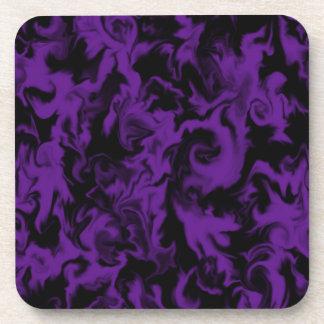 Dark Violet & Black mixed color coaster