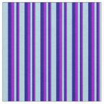 [ Thumbnail: Dark Violet, Blue & Light Blue Pattern Fabric ]
