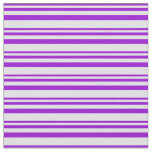[ Thumbnail: Dark Violet & Lavender Striped Pattern Fabric ]
