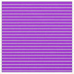 [ Thumbnail: Dark Violet & Light Gray Pattern of Stripes Fabric ]