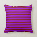 [ Thumbnail: Dark Violet & Maroon Colored Pattern Throw Pillow ]