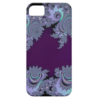 Dark Violet Midnight Fractal Abstract iPhone 5 Cover