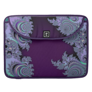 Dark Violet Midnight Fractal Abstract Sleeves For MacBook Pro