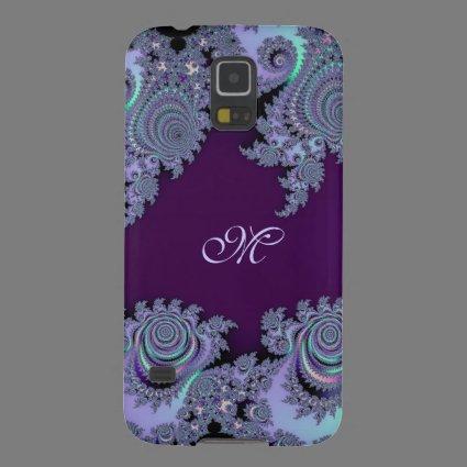 Dark Violet Monogram Fractal Galaxy S5 Case