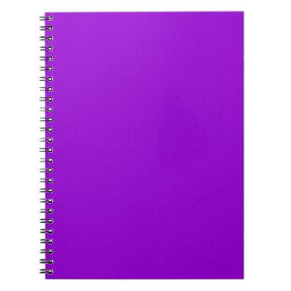 Dark Violet Spiral Note Book
