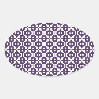 Dark Violet Plum And White Pattern Sticker
