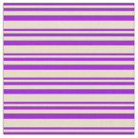 [ Thumbnail: Dark Violet & Tan Colored Pattern Fabric ]