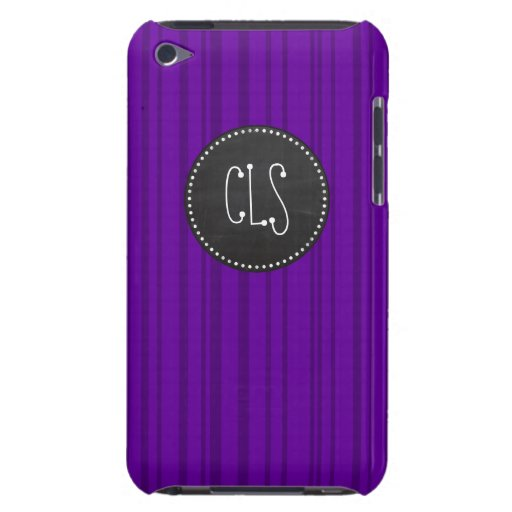 Dark Violet Vertical Stripes; Chalkboard iPod Touch Cover