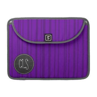 Dark Violet Vertical Stripes; Chalkboard MacBook Pro Sleeve