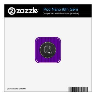 Dark Violet Vertical Stripes; Chalkboard iPod Nano 6G Skin