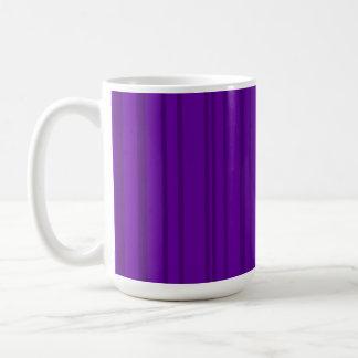 Dark Violet Vertical Stripes Classic White Coffee Mug