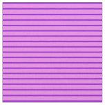 [ Thumbnail: Dark Violet & Violet Colored Stripes Fabric ]