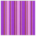 [ Thumbnail: Dark Violet, Violet & Maroon Colored Stripes Fabric ]