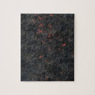 Dark Volcanic Ash Pattern Texture Background Jigsaw Puzzle