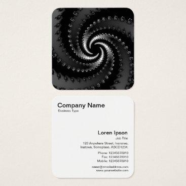 Dark Vortex Fractal Square Business Card