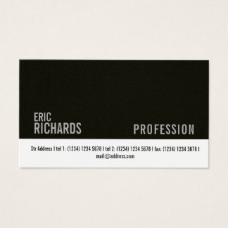 Dark wall faux concrete and white stripe cover business card
