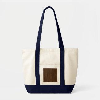 Dark Walnut Bamboo Look Canvas Bags
