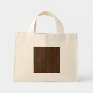 Dark Walnut Bamboo Look Tote Bag