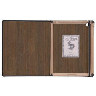 Dark Walnut Bamboo Look Covers For iPad
