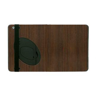 Dark Walnut Bamboo Look iPad Folio Cases