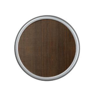 Dark Walnut Brown Bamboo Wood Grain Look Bluetooth Speaker