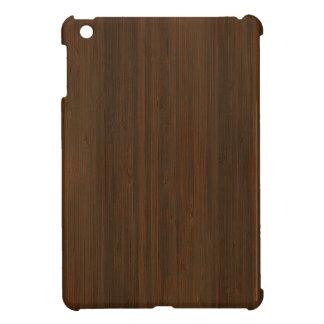 Dark Walnut Brown Bamboo Wood Grain Look Cover For The iPad Mini