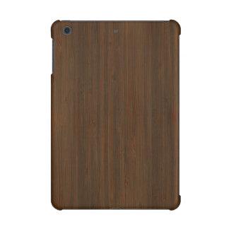 Dark Walnut Brown Bamboo Wood Grain Look iPad Mini Cases