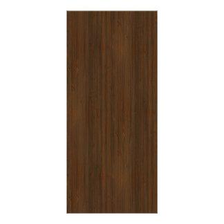 Dark Walnut Brown Bamboo Wood Grain Look Rack Card