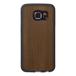 Dark Walnut Brown Bamboo Wood Grain Look Wood Phone Case