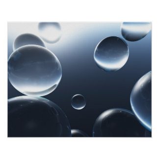 Dark Water Droplets Poster