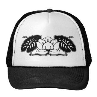 Dark Water Lily Motif Trucker Hat