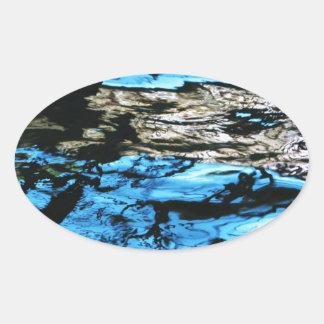 Dark Water waves Drops Crystal Clear Fine glass ti Sticker