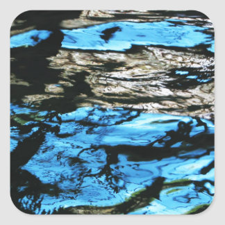 Dark Water waves Drops Crystal Clear Fine glass ti Stickers