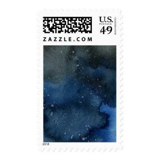 Dark Watercolor Wash Large Stamp