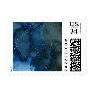 Dark Watercolor Wash Small Stamp
