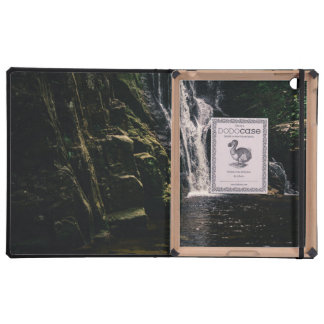 Dark Waterfall and A Lake, Nature Photograph iPad Folio Cases