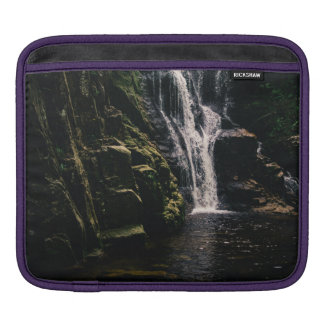 Dark Waterfall and A Lake, Nature Photograph Sleeve For iPads