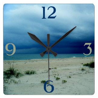 Dark Waters Beach Photo Wall Clock