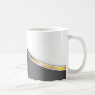 Dark Wave Abstract Basic White Mug